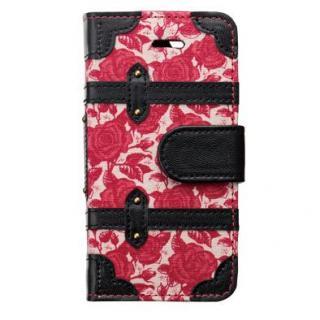 トランクカバー ヴィンテージローズ iPhone SE/5s/5/5c 手帳型ケース
