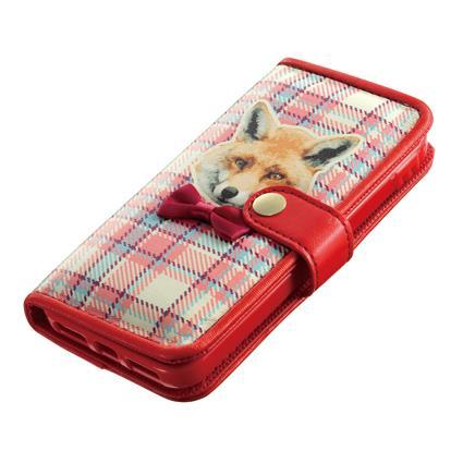iDress ガールズアイ キツネ iPhone SE/5s/5/5c 手帳型ケース