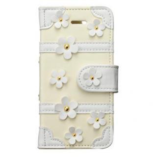 トランクカバー イエローデイジー iPhone SE/5s/5/5c 手帳型ケース