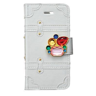 iPhone SE/5s/5 ケース トランクカバー ビジュー iPhone SE/5s/5/5c 手帳型ケース_0