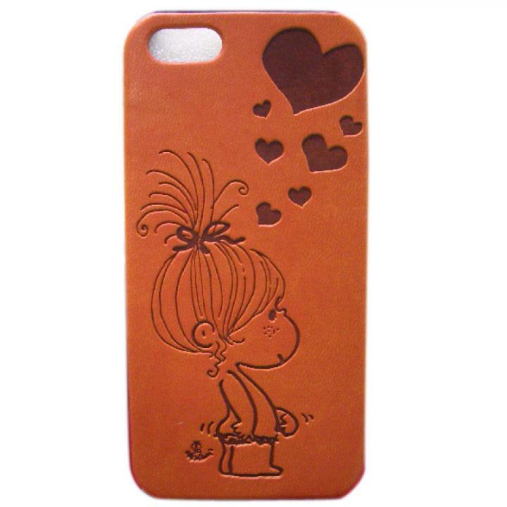 iPhone SE/5s/5 ケース 水森亜土 イタリアンPU iPhone case 5対応(ハート/LBR)_0