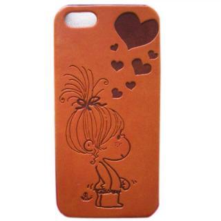 【iPhone SE/5s/5ケース】水森亜土 イタリアンPU iPhone case 5対応(ハート/LBR)