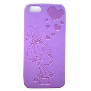 【iPhone SE/5s/5ケース】水森亜土 イタリアンPU iPhone case 5対応(ハート/LPL)