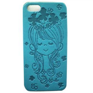 【iPhone SE/5s/5ケース】水森亜土 イタリアンPU iPhone case 5対応(フラワー/TBL)