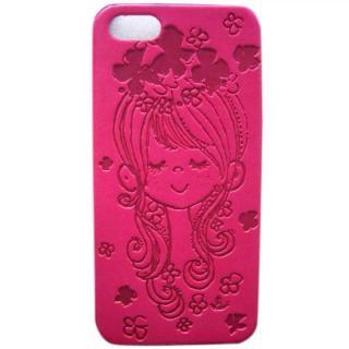【iPhone SE/5s/5ケース】【入荷未定】水森亜土 イタリアンPU iPhone case 5対応(フラワー/HPK)