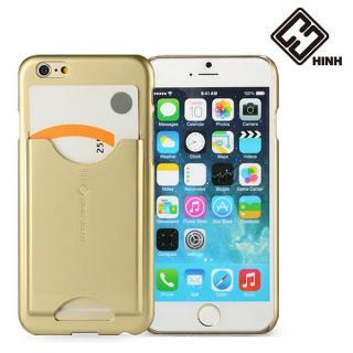【iPhone6ケース】HinH JENTI カードホルダーケース ゴールド iPhone 6_1