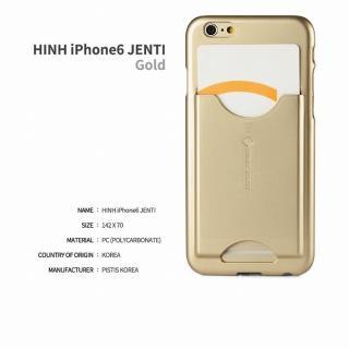 【iPhone6ケース】HinH JENTI カードホルダーケース ゴールド iPhone 6_3
