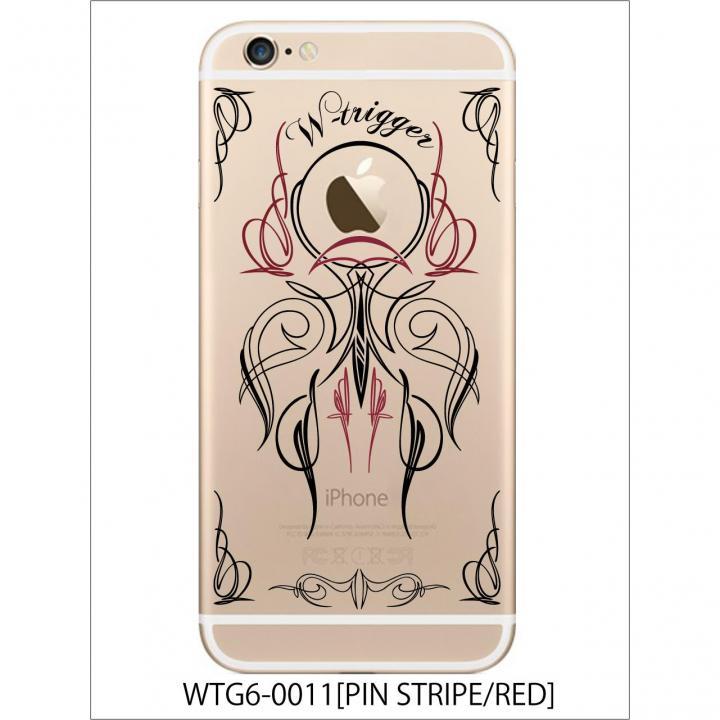 アトモスフィア クリアメンズデザインケース ピンストライプレッド iPhone 6