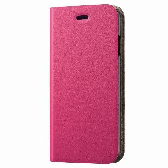 ソフトレザー手帳型ケース ピンク iPhone 6