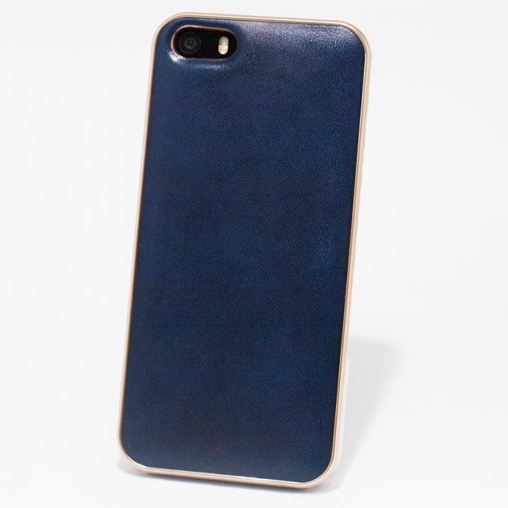 iPhone SE/5s/5 ケース 使うほどに味わい深い 栃木レザーケース LEATHER-TOCHIGI- ネイビー iPhone SE/5s/5ケース_0