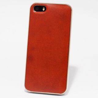 使うほどに味わい深い 栃木レザーケース LEATHER-TOCHIGI- オレンジ iPhone SE/5s/5ケース