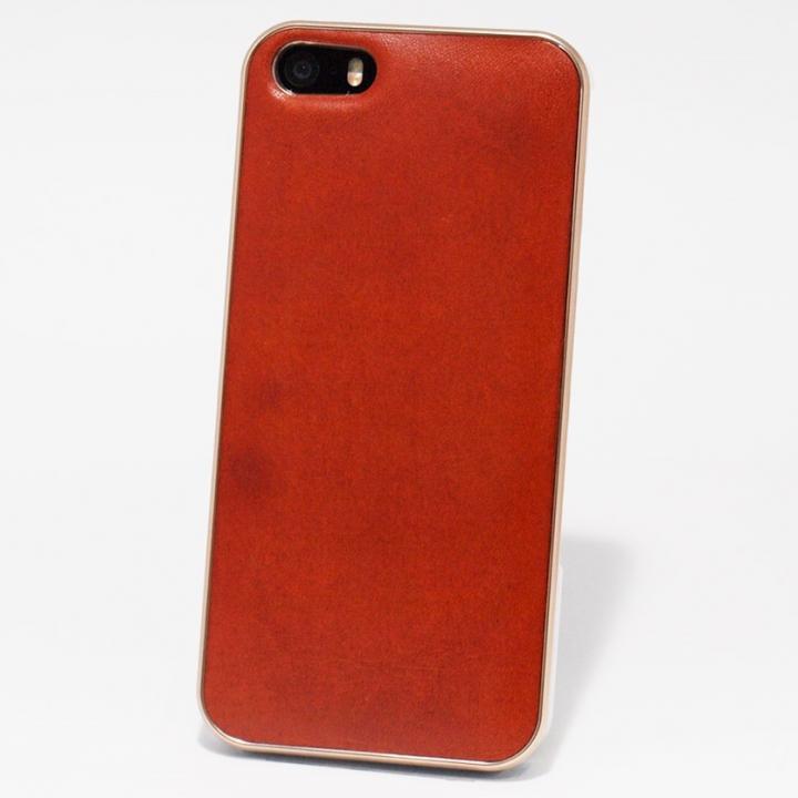 iPhone SE/5s/5 ケース 使うほどに味わい深い 栃木レザーケース LEATHER-TOCHIGI- オレンジ iPhone SE/5s/5ケース_0