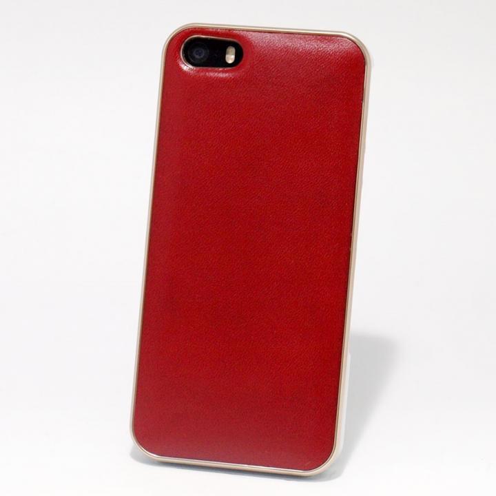 iPhone SE/5s/5 ケース 使うほどに味わい深い 栃木レザーケース LEATHER-TOCHIGI- レッド iPhone SE/5s/5ケース_0