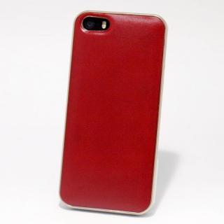 使うほどに味わい深い 栃木レザーケース LEATHER-TOCHIGI- レッド iPhone SE/5s/5ケース