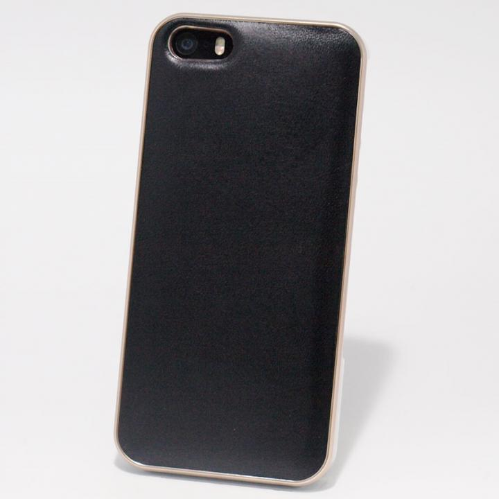 iPhone SE/5s/5 ケース 使うほどに味わい深い 栃木レザーケース LEATHER-TOCHIGI- ブラック iPhone SE/5s/5ケース_0