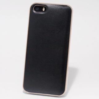 使うほどに味わい深い 栃木レザーケース LEATHER-TOCHIGI- ブラック iPhone SE/5s/5ケース