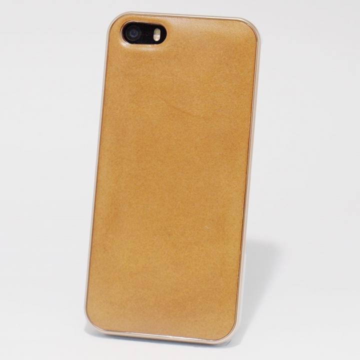 使うほどに味わい深い 栃木レザーケース LEATHER-TOCHIGI- タン iPhone SE/5s/5ケース