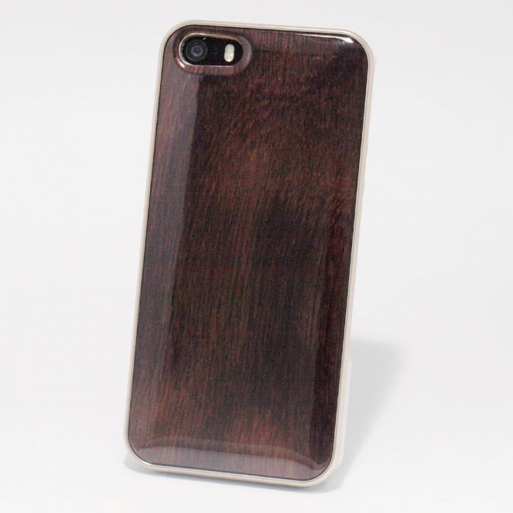 iPhone SE/5s/5 ケース 日本製天然木ケース REAL WOODEN ハイグレード ローズウッド iPhone SE/5s/5ケース_0