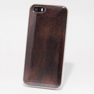 日本製天然木ケース REAL WOODEN ハイグレード ローズウッド iPhone SE/5s/5ケース