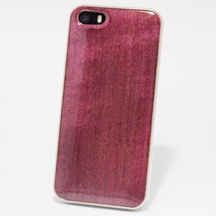 iPhone SE/5s/5 ケース 日本製天然木ケース REAL WOODEN ハイグレード パープルハート iPhone SE/5s/5ケース_0