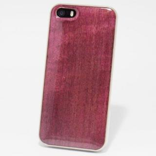 日本製天然木ケース REAL WOODEN ハイグレード パープルハート iPhone SE/5s/5ケース