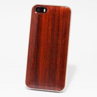 日本製天然木ケース REAL WOODEN ハイグレード パドック iPhone SE/5s/5ケース