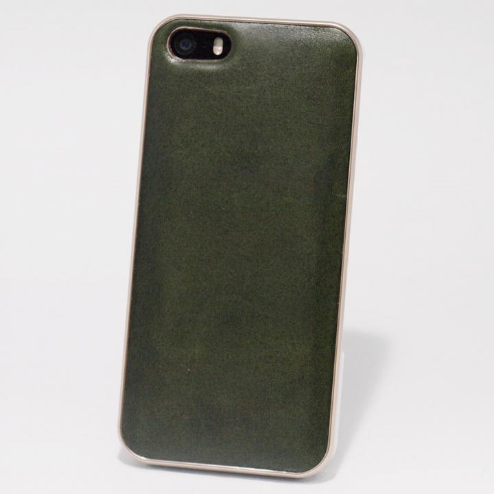 iPhone SE/5s/5 ケース 使うほどに味わい深い 栃木レザーケース LEATHER-TOCHIGI- グリーン iPhone SE/5s/5ケース_0