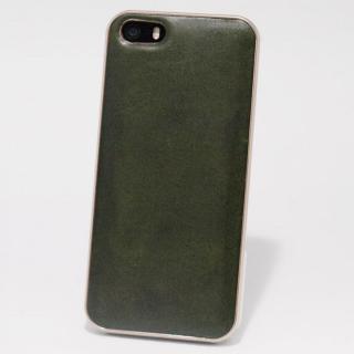 使うほどに味わい深い 栃木レザーケース LEATHER-TOCHIGI- グリーン iPhone SE/5s/5ケース