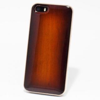 日本製天然木ケース REAL WOODEN サンバーストグレード サクラ iPhone SE/5s/5ケース