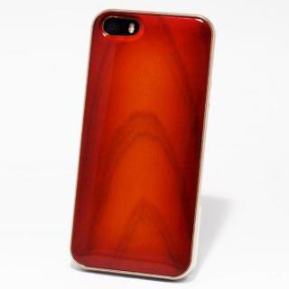 日本製天然木ケース REAL WOODEN サンバーストグレード ヨシノ iPhone SE/5s/5ケース