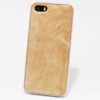 日本製天然木ケース REAL WOODEN ハイグレード メイプル iPhone SE/5s/5ケース