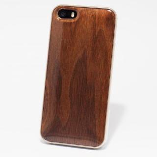 日本製天然木ケース REAL WOODEN ハイグレード クルミ iPhone SE/5s/5ケース