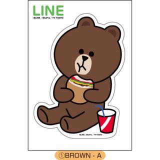 LINE ダイカットステッカー BROWN-A