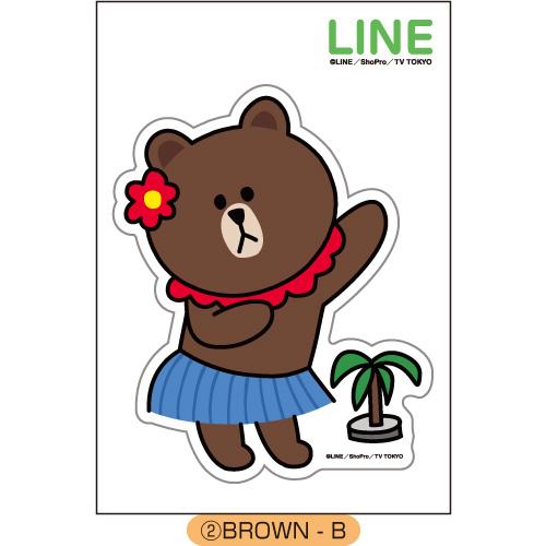 LINE ダイカットステッカー BROWN-B_0