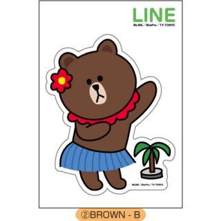 LINE ダイカットステッカー BROWN-B