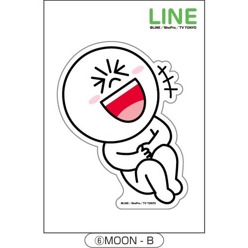 LINE ダイカットステッカー MOON-B_0
