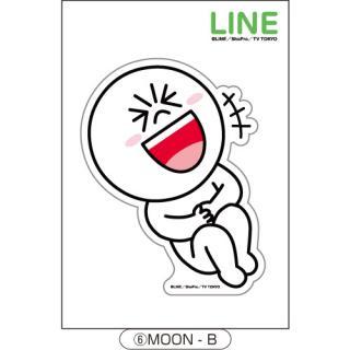 LINE ダイカットステッカー MOON-B