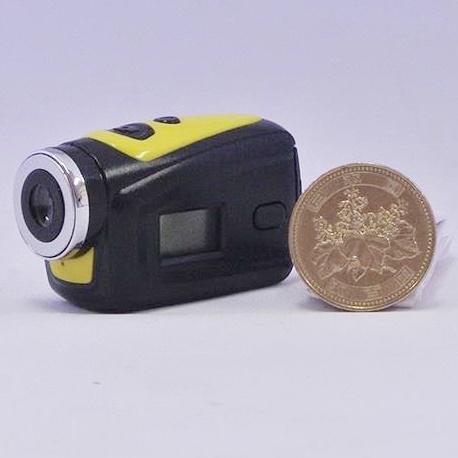 超小型防水スポーツデジタルビデオカメラ イエロー_0