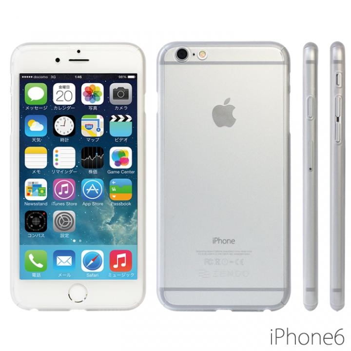 iPhone6 ケース 極薄ハードケース ZENDO Nano Skin クリア iPhone 6_0