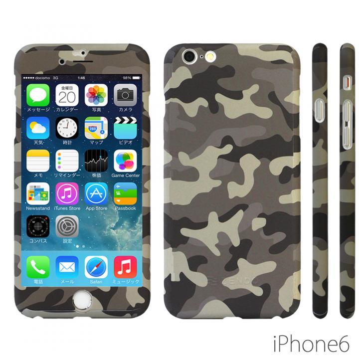 【iPhone6ケース】極薄ハードケース ZENDO Nano Skin カモフラージュ グレー iPhone 6_0