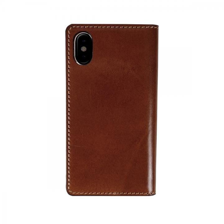 iPhone XS/X ケース LAYBLOCK Tuscany Belly ベジタブルレザー 手帳型ケース ブラウン iPhone XS/X_0