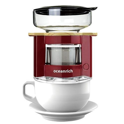 oceanrich 自動ドリップ・コーヒーメーカー レッド