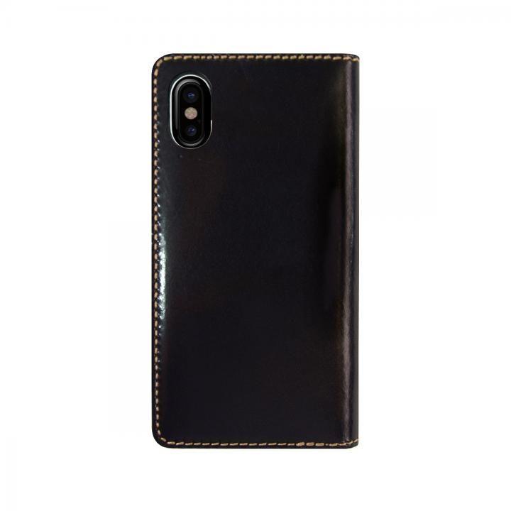iPhone XS/X ケース LAYBLOCK Tuscany Belly ベジタブルレザー 手帳型ケース ブラック iPhone XS/X_0