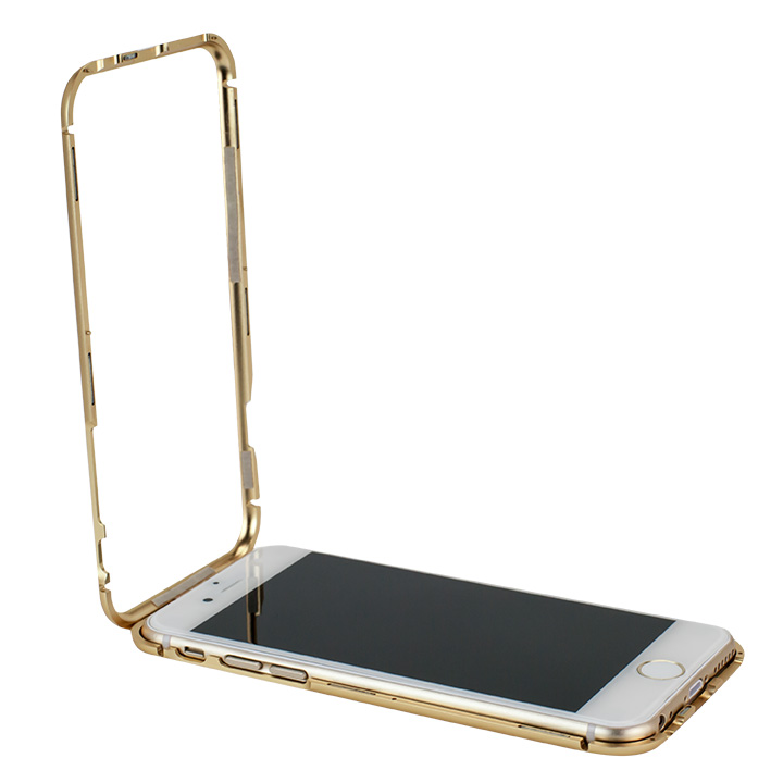 【iPhone6ケース】マグネットアルミバンパー ゴールド iPhone 6_0