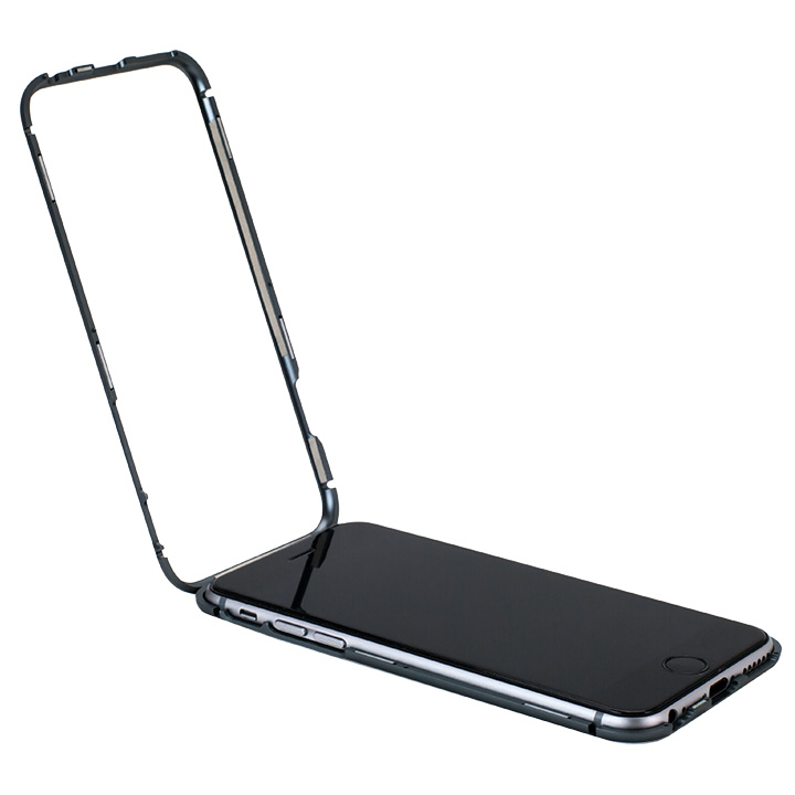 【iPhone6ケース】マグネットアルミバンパー グレー iPhone 6_0