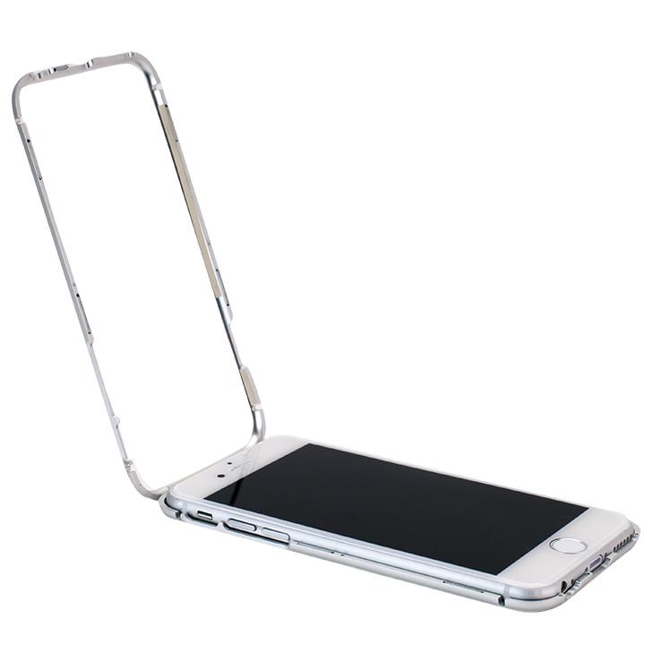 【iPhone6ケース】マグネットアルミバンパー シルバー iPhone 6_0