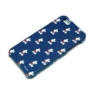 ディズニー iPhone 5用レザーケース ミッキー総柄