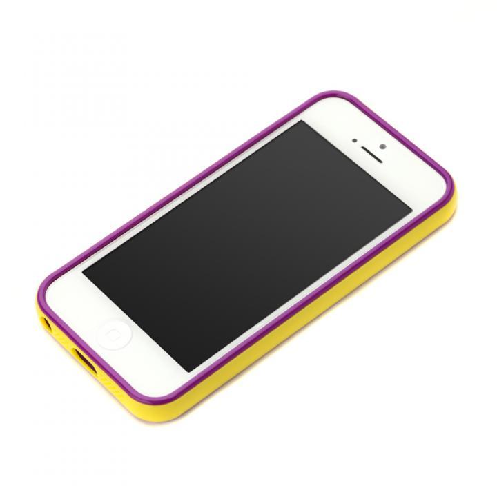 iPhone SE/5s/5 ケース iPhone SE/5s/5用 2トーンカラーバンパー イエロー×パープル_0