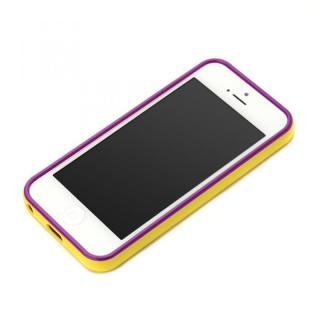 iPhone SE/5s/5用 2トーンカラーバンパー イエロー×パープル