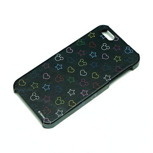 ディズニー iPhone 5用レザーケース シルエット総柄